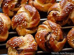 Sjokolade- og kanelsnurrer - TRINEs MATBLOGG Pretzel Bites, Bread, Recipes, Food, Brot, Recipies, Essen, Baking, Meals