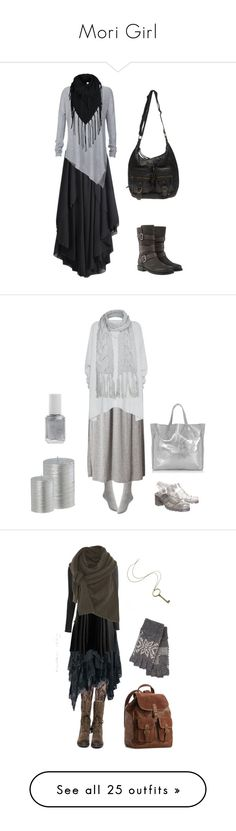 """""""Mori Girl"""" by forestsandtea ❤ liked on Polyvore featuring Alice + Olivia, ONLY, Mint Velvet, Wet Seal, Uniqlo, Glamorous, Donna Karan, JuJu, Warehouse and Essie"""