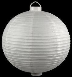 "Paper Lanterns 20"" White Paper Round Lantern with LED lights $11 each / 3 for $10.50"
