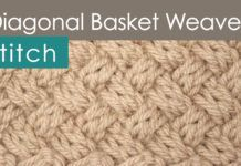 How to Knit the Diagonal BASKET WEAVE Knit Stitch Pattern