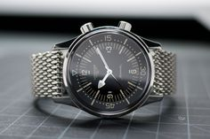 Another Longines Legend Diver with Omega shark-bracelet, nice touch