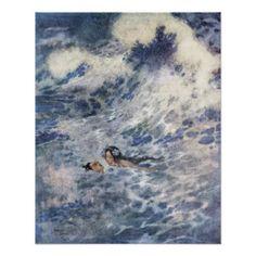 Der Prinz und die Meerjungfrau durch Edmund Dulac Poster