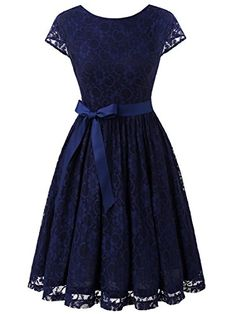 IVNIS Womens Vintage Lace V Back Bridesmaid Party Dress Short Prom Dress Cap Sleeve Black M >>> For more information, visit image link. (This is an affiliate link and I receive a commission for the sales) Cap Dress, Dress Skirt, Short Dresses, Prom Dresses, Formal Dresses, Skater Dresses, Graduation Dresses, Mini Dresses, Bridesmaid Dress