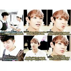 V's honesty kills me this is one of the many many reasons i absolutely love him dorky,sexy and just omg