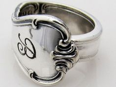 Spoon Ring Size 8 Signature With B Monogram by dankartistry, $16.00