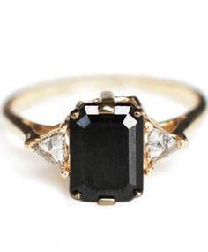 http://rubies.work/0104-ruby-rings/ Black Diamond Engagement Rings / Wedding Style Inspiration / LANE (instagram: the_lane)