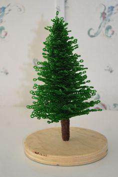 NEW French beaded handmade green Christmas by LaurasBeadCreations, $49.99