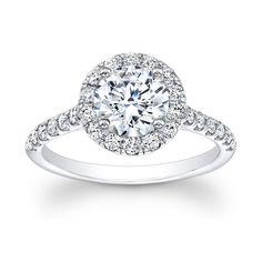 Custom Made Ladies Diamond Halo Engagement Ring