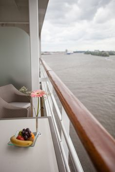 Relaxing on your stateroom's balcony, on the Azamara Journey. It doesn't get any better!