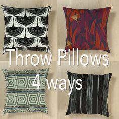 Throw Pillows 4 Ways