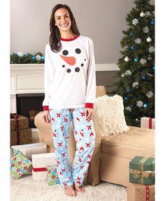 Womens Snowman Pajamas Sleepwear 2T/3T, 4/5, 6/7 or 8/10 Holiday PJ's Loungeware #Imported #PajamaSets