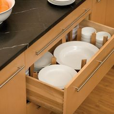 Handicapped Accessible dish storage