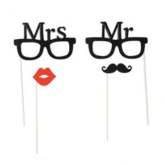 "Accessoires photobooth ""Mrs & mr"""