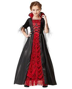 Victorian Vampiress Girls Costume - Spirithalloween.com - Sam's choice