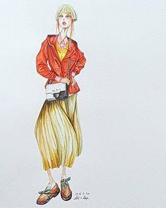 #fashionillustration #resort17collection @maisonmargiela #fashionillustrationoftheday #fashionsketch #watercolorillustrations #drawing #drawadot #voguemagazine #masionmartinmargiela #masionmargiela #johngalliano #womenswear #fashionillustrator #패션일러스트레이터 #패션일러스트 #패션일러스트레이션 #메종마르지엘라 #패션일러스트 #보그코리아 #패션디지이너 #여성복디자인