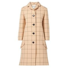 7c2521ec80c1 Zendman beige checked coat, circa 1965 | From a collection of rare vintage  coats and