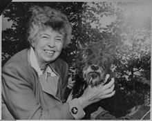Happiness is not a goal, it is a by-product. Paradoxically, the one sure way not to be happy is deliberately to map out a way of life in which one would please oneself completely, and exclusively. Eleanor Roosevelt (with Fala, 1951)