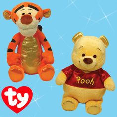 Winnie the Pooh and Tigger too!   Get these Sparkle Disney Beanies and others in the Ty Store!