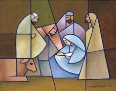 In the City of David –sold– – Jorge Cocco Santángelo Stained Glass Quilt, Stained Glass Designs, Stained Glass Projects, Stained Glass Patterns, Christmas Nativity, Christmas Crafts, Stained Glass Christmas, Church Banners, Theme Noel