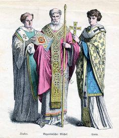 400 AD: Byzantine upper class men's clothing