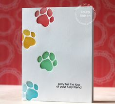 Sorry for the Loss of yoru Furry Friend card by Laura Bassen for Paper Smooches - Cat Icon dies, Feline Friends stamp set