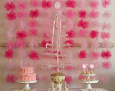 Shocking pink tulle garland Party decorations di shanealwilliamson