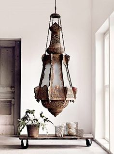 Moroccan lamp for bath (pick up battery op candle)