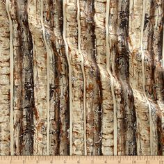 Nocturne Metallic Birch Trees Sepia/Silver from @fabricdotcom  From Hoffman Fabrics, this cotton print fabric features beautiful birch bark with just a touch of metallic. Perfect for quilting, apparel and home decor accents. Colors include metallic silver and shades of grey and brown.
