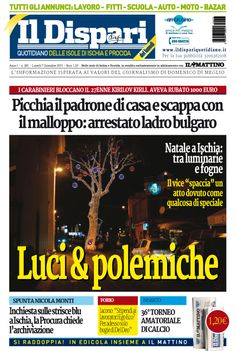 La copertina del 07 dicembre 2015 #ischia #ildispari