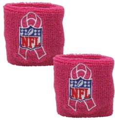 NFL Shield Pink Breast Cancer Awareness 2 Pack Wristband | eBay