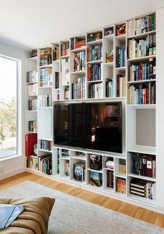Bookshelf wall unit bookshelves tv bookcase plans theshallows co. Bookcase Tv Stand, Bookshelves With Tv, Bookcase Wall Unit, Tv Wall Shelves, Bookcase Plans, Tv Shelf, Wall Tv, Tv Cabinet Design, Tv Wall Design