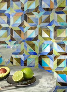 Blue , green and brown custom mosaic ID NR Stone Mosaic, Mosaic Glass, Mosaic Tiles, Stained Glass, Ravenna Mosaics, New Ravenna, Color Of The Year 2017, Islamic Patterns, Glass Design