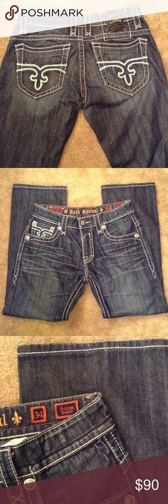 Men's Rock Revival Jeans Men's Rock Revival George Straight Leg Jeans. Inseam 31.5 inches. 100% cotton. Great condition. Rock Revival Jeans Straight Leg