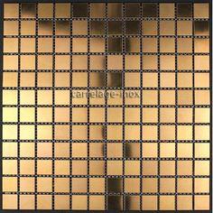 carrelage inox cuivre