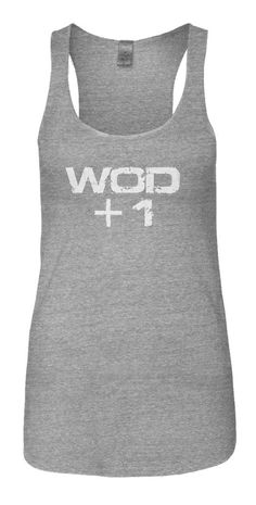 WOD+1 pregnancy tank for CrossFit