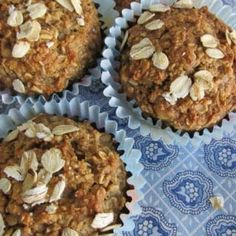 This Healthy Oatmeal Muffins Recipe contains No Flour, No Sugar, & No Oil but makes delicious muffins. Perfect for a quick healthy breakfast, great as snacks.