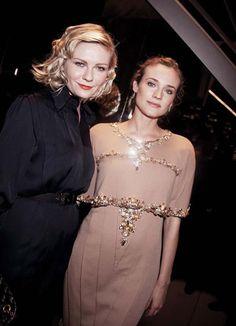 Kirsten Dunst and Diane Kruger at Chanel.