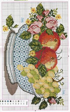 Your Website Title Cross Stitch Horse, Cross Stitch Fruit, Cross Stitch Kitchen, Cross Stitch Flowers, Counted Cross Stitch Patterns, Cross Stitch Designs, Cross Stitch Embroidery, Cross Stitch Collection, Hand Embroidery Designs