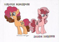 Marzi and Amande, the Twins of Pinkie Pie and Cheese Sandwich. MLP.