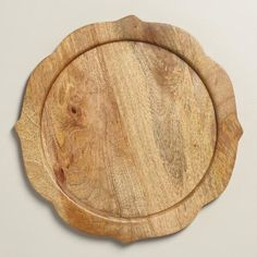 Crafted of mango wood with a sophisticated silhouette, these chargers affordability elevate the look of your tabletop. Wooden Charger Plates, Wood Plate Chargers, Wooden Chargers, Wooden Plates, Wedding Plates, Wedding Table, Rustic Wedding, World Market, Interior Design Living Room