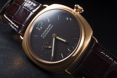 Panerai - Radiomir, ref.PAM336, limited 500 pcs - Manual-winding, cal.P999, 3Hz, 60hr p.r. - 42mm, pink gold case, brown dial ~13k