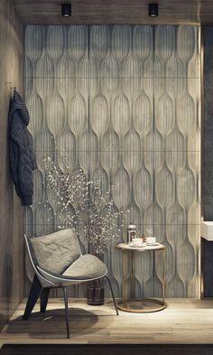 Wooden Wall Design, Wall Panel Design, Floor Design, House Design, Cladding Design, Interior Cladding, Wall Cladding, Master Bedroom Interior, Interior Walls
