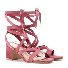 Gianvito Rossi - Janis Low suede sandals