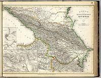 Karte des Kaukasischen Isthmus. Entworfen und gezeichnet von J. Grassl, 1856.