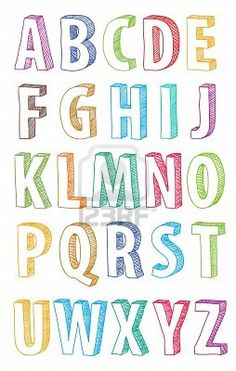 Vector of 'doodle, font, alphabet' (Cool Fonts) Doodle Fonts, Doodle Lettering, Creative Lettering, Lettering Styles, Block Lettering, Block Letter Fonts, Bubble Letter Fonts, Bubble Writting, Cute Letter Fonts
