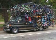 mount a skateboard to rear rack bike - Google Search