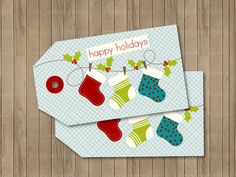 DIY Gift Tags Christmas DIY Printable Tags by TracyAnnDigitalArt