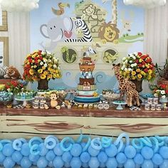 Baby showers ideas em 2019 ноев ковчег e фуршет. Noahs Ark Cake, Noahs Ark Party, Noahs Ark Theme, Girls Party Decorations, Baby Shower Decorations For Boys, Baby Shower Themes, Shower Ideas, Baby Shower Cake Pops, Baby Shower Balloons