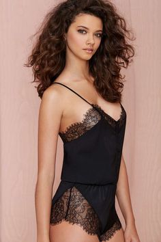 Nasty Gal Nightscape Lace Romper #nightie