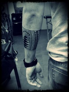 Mens Tribal Forearm #Tattoo